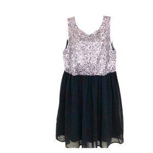 Pinky sequin dress pink/Black  sz L